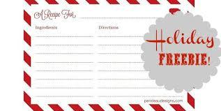 Christmas Recipe Cards Template Recipe Cards Template Free 14 Free Bridal Recipe Card
