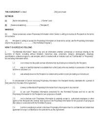 Nda Form Template Simple Stard Non Disclosure Agreement Form Template Word Uk