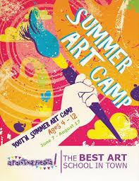 Summer Camp Flyer Template Interesting Summer Art Camp Flyer Kids Summer Art Camp Pinterest Camping