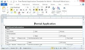 Free Rental Application Template For Word Form Ontario 410 Detailed