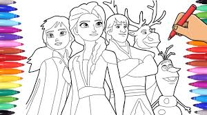 They're just a small section of our printable kids coloring pages. Disney Frozen 2 Coloring Pages Drawing Elsa Anna And Olaf Frozen 2 Youtube