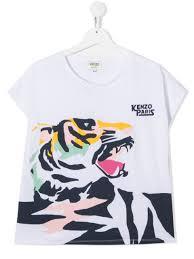 Kenzo <b>Kids</b> Футболка С Графичным Принтом <b>Tiger</b> - Купить В ...