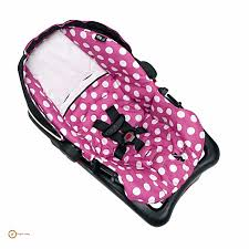 polka dot stroller car seat baby girl infant harness pink minnie mouse newborn
