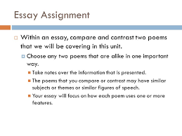 the poetry collection a word is dead when it is said some say 3 essay assignment in an essay compare and contrast two poems