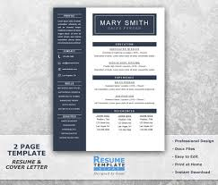Template Curriculum Template Word One Page Resume Template