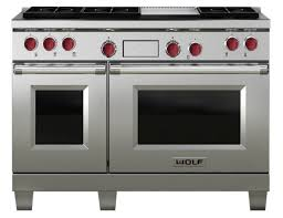 wolf 48 inch double oven dual fuel range stainless steel fueldf486g wolf dual fuel range68