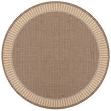 couristan recife wicker stitch cocoa natural 9 ft x 9 ft round indoor outdoor area rug 16811500086086n the home depot