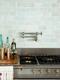 Green Tile Backsplash Kitchen Green With Envy 3 Kitchens That Pair Green Tile Copper Accents