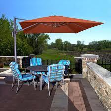 island umbrella santorini ii 10 ft square cantilever patio umbrella in terra cotta sunbrella acrylic