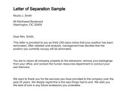 Separation Letter Template Acepeople Co