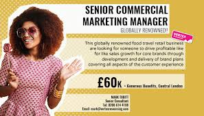 Roles Of A Sales And Marketing Manager Senior Commercial Marketing Manager Vertex Resourcing Fmcg