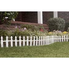 white picket fence garden edging