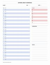Microsoft Word Schedule Templates School Daily Schedule