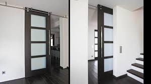 awesome barn door with glass modern interior and sliding a for the insert window lowe diy
