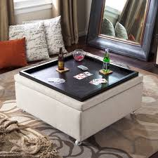 glass coffee table with ottomans underneath home design ideas inside coffee table with storage ottomans decorating