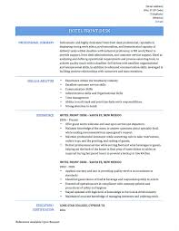 Hotel Front Desk Resume Concierge Objective Sample Gorgeous