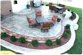 backyard stamped concrete patio ideas designs reviews pictures stamp dining sets