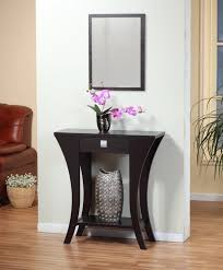 exciting black finish console table furniture s m l f source