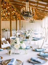 Wedding Reception Tablescape With Champagne Gold Charger Plates