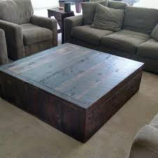 hand crafted square reclaimed coffee table by tim sway perspectives custommade com