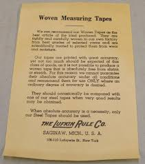 Nevada State Museum, Las Vegas - Advisory note in the box about the  accuracy of woven measuring tapes. ca. 1930-40's Ref: VM-2009-013-053 Ida  Kelley, Ida Browder Collection | Facebook