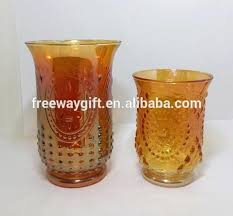 glass hurricane shades large cylinders amber er colored clear glass hurricane candle holder shades etched glass