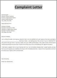 Letter Of Complain Template Free Printable Sample Customer Complaint Response Letter