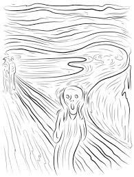 the scream coloring sheet. Unique Scream The Scream By Edvard Munch Coloring Page From Category Select  24104 Printable Crafts Of Cartoons Nature Animals Bible And Many More For Coloring Sheet O