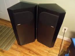 bose 401. bose 401 direct/reflecting stereo space array black tower speakers matched a