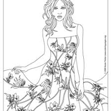 Small Picture Free Printable Fashion Coloring Pages For Adults AZ Coloring
