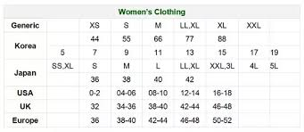 European Size Chart Clothing How To Convert Clothes In Asian Sizes To U S Sizes Quora