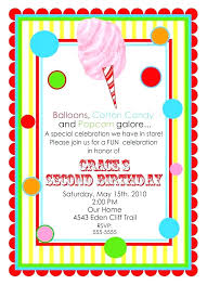Carnival Themed Invites Print Invitation Cards Circus Flyer Template