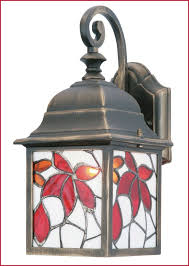 tiffany style outdoor lighting comfy bindi multicolour antique bronze effect external wall light