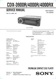 sony cdx m620 m670 service manual schematics sony