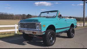 1972 Chevrolet K5 Blazer 4x4 Convertible Pickup Truck Test Drive ...