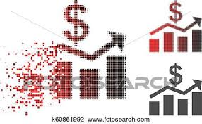 Sales Chart Icon Broken Dot Halftone Sales Chart Icon Clipart K60861992