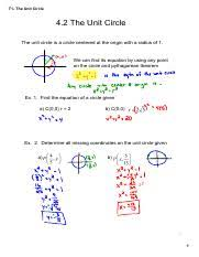 Unit Circle Chart Filled In T1 Unit Circle Filled In Pdf T1theunitcircle 4 2