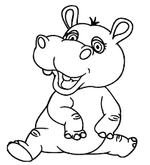 The Best Free Hippopotamus Coloring Page Images Download From 89