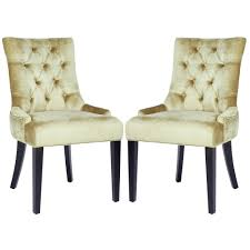 Overstock Living Room Chairs Safavieh En Vogue Dining Abby Nail Head Bronze Velvet Dining