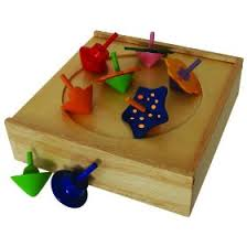 Wooden Spinning Top Game Spinning Top Game 6