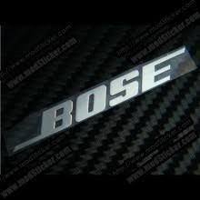 bose logo. bose metal logo sticker