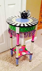 colorful painted furniture. Colorful Painted Furniture. Custom Made Hand Round Side Accent Table Design//painted Furniture K
