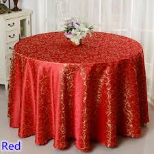 Red colour jacquard table cloth damask pattern table cover for ...