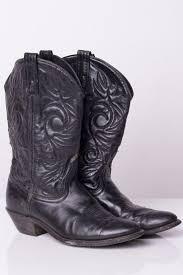 black leather cowboy boots 8m 1