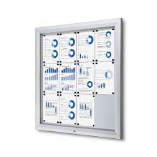 outdoor bulletin board with magnetic board enclosed and locking fits 12 pages