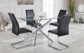 gray chrome chairs round table dining white black grey glass gumtree outdoor rimu small set folding