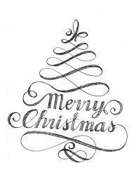 Typographic Christmas Card Design Christmas Decor Christmas