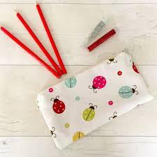 details about ladybird pencil case purse makeup bag stationary pouch ladybug pen storage
