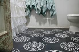 super affordable bathroom floor makeover solution how to chalk paint tile floors so glad