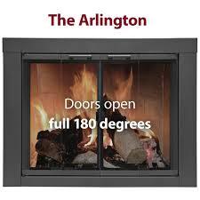 brilliant ideas gas fireplace doors special ez door zero clearance fireplace door anodized aluminum
